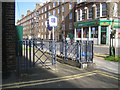 TQ3378 : Steel railings, Southborough House frontage, Kinglake Street, Walworth by Robin Stott