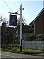TM0759 : The Crown Public House sign by Adrian Cable