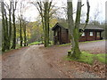 NY4988 : Cabin in the Woods at Whithaugh Park by Andrew Tryon