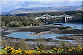 SH5471 : Menai Strait at low tide by Oliver Mills