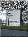 TM0760 : Roadsign on the A1120 Church Road by Adrian Cable