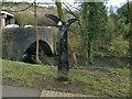 SN7203 : Millennium Milepost on Route 43 at Pontardawe by Nigel Davies
