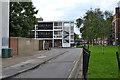 TQ3277 : Empty Flecker House behind Broome Way, Camberwell by Robin Stott