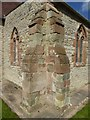 SO8543 : Buttresses, Severn Stoke church  by Philip Halling