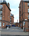 TQ3276 : Peabody Estate, Camberwell Green – a glimpse between buildings by Robin Stott