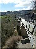 SJ2742 : Pontcysyllte aqueduct eastern flank at northern end by Rob Farrow