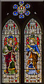 TF0548 : Stained glass window, St Andrew's church, Leasingham by Julian P Guffogg