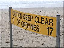 SZ1090 : Groyne warning by Michael Dibb