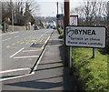 SS5499 : Bynea boundary sign by Jaggery