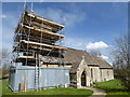 SU0799 : Scaffolding, Church of St. Mary, Driffield by Vieve Forward