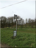 TM1453 : Roadsign on Rectory Road by Adrian Cable