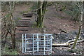 ST1899 : Kissing gate and steps, Nant Gwrhay by M J Roscoe