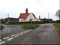 TM1453 : Church Lane, Hemingstone by Adrian Cable