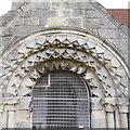 SE5548 : Porch detail, St Nicholas, Askham Bryan by Rich Tea