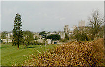 ST5545 : Wells Cathedral from beside the B3139, 1985 by John Baker