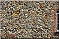 SY4197 : Wall of Shave Cross Inn by Derek Harper