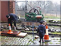 SK2625 : Claymills Victorian Pumping Station - preparing to test the winch by Chris Allen