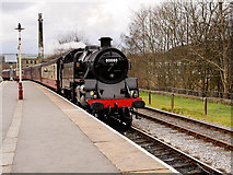 SD8022 : Black Five draws into Rawtenstall by David Dixon