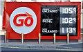J3373 : Fuel price sign, Belfast (17 April 2016) by Albert Bridge