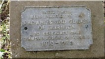 SP2865 : Plaque in Priory Park by Jack FitzSimons