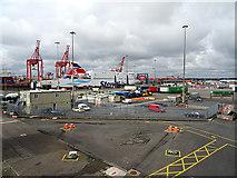 O2034 : The 'Stena Superfast' Ferry in Dublin Port by John Lucas