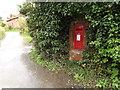 TM1154 : The Hollows & The Green George VI Postbox by Geographer