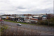 TA0827 : Looking across Clive Sullivan Way towards Goulton Street by Ian S