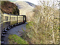 SN7177 : Vale of Rheidol Railway on the side of Allt Ddu by David Dixon