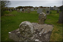 SW4538 : Zennor: gravestones, St Senara's churchyard by Christopher Hilton