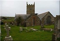 SW4538 : Zennor: St Senara's church from the east by Christopher Hilton