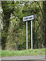 TM1158 : Roadsign on the A140 Norwich Road by Geographer