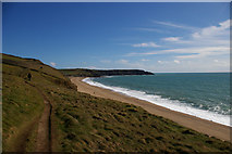 SW6523 : South West Coast Path south of Blue Rocks by Christopher Hilton