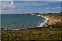 SW6522 : Gunwalloe Fishing Cove and Porthleven Sands from the south by Christopher Hilton