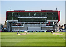 SJ8195 : Old Trafford: James Anderson bowling by John Sutton