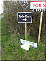 TM1256 : Tyde Barn sign at the entrance to Dial Farm by Adrian Cable