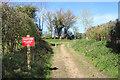 SU4375 : Bollards Ahead by Des Blenkinsopp