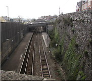 SX9473 : Eastern end of Teignmouth railway station by Jaggery