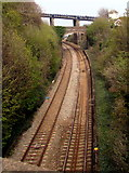 SX9473 : Railway towards two bridges, Teignmouth by Jaggery