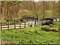 SE2812 : Bridge over the Cut at Yorkshire Sculpture Park by David Dixon