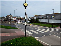 SX9473 : Zebra crossing, Exeter Road, Teignmouth by Jaggery