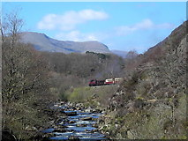 SH5946 : Railway by the river by Mark Percy