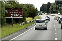 SK7371 : Southbound A1 near to Tuxford by David Dixon