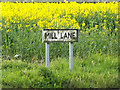 TM1551 : Mill Lane sign by Adrian Cable