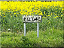 TM1551 : Mill Lane sign by Geographer