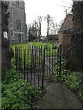TM1551 : Entrance gate & path to St.Peter's Church by Geographer
