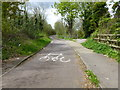 TQ7266 : East end of the cyclepath and footpath across the Medway Bridge by Ron Lee