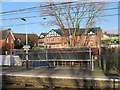 SJ7361 : Cycle parking by Sandbach station by Stephen Craven