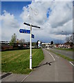 ST6178 : Depiction of a white bicycle on top of a cycle route signpost, Filton by Jaggery