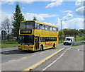 ST6178 : Yellow double-decker bus enters Filton from Stoke Gifford by Jaggery