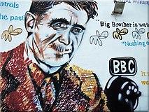 TM5176 : George Orwell mural by michael ely
